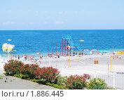 Купить «Городской пляж в Сочи», эксклюзивное фото № 1886445, снято 7 июля 2010 г. (c) Анна Мартынова / Фотобанк Лори