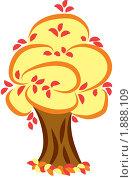 Дерево осенью. Стоковая иллюстрация, иллюстратор Ирина Кротова / Фотобанк Лори