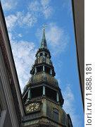Церковь Святого Петра в Риге (2010 год). Стоковое фото, фотограф Елена Носик / Фотобанк Лори