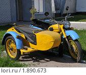 Купить «Старый милицейский мотоцикл», эксклюзивное фото № 1890673, снято 5 августа 2010 г. (c) Free Wind / Фотобанк Лори