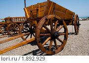 Традиционная старая телега. Стоковое фото, фотограф Михаил Снисаренко / Фотобанк Лори
