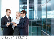 Купить «Успешные бизнесмены в офисе», фото № 1893745, снято 17 июня 2010 г. (c) Raev Denis / Фотобанк Лори