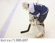 Вратарь-хоккеист стоит на льду. Стоковое фото, фотограф ac / Фотобанк Лори