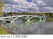 Купить «Пруд и мост в Царицыно, Москва», фото № 1905949, снято 3 октября 2009 г. (c) Fro / Фотобанк Лори