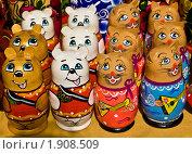 Купить «Матрешки в виде мишек», фото № 1908509, снято 6 июня 2010 г. (c) ИВА Афонская / Фотобанк Лори