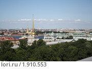 Купить «Вид со смотровой площадки Исаакиевского собора», фото № 1910553, снято 10 июля 2010 г. (c) Анастасия Семенова / Фотобанк Лори