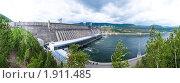 Купить «Панорама Красноярской ГЭС», фото № 1911485, снято 2 июля 2010 г. (c) Сергей Болоткин / Фотобанк Лори