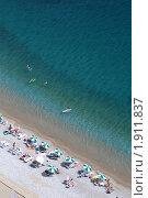 """Черногория, пляж """"Яз"""" (2009 год). Стоковое фото, фотограф Верещагина Дарья / Фотобанк Лори"""