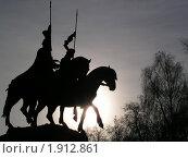 Купить «Всадники», фото № 1912861, снято 12 ноября 2002 г. (c) Юлия Дозорец / Фотобанк Лори
