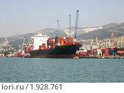 Купить «Морской грузовой порт в Новороссийске», фото № 1928761, снято 6 августа 2010 г. (c) Наталья Волкова / Фотобанк Лори