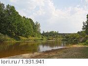 Купить «Мост через реку Большая Кокшага», фото № 1931941, снято 25 июля 2010 г. (c) Емельянова Светлана Александровна / Фотобанк Лори
