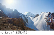 Купить «Солнечный день в горах», фото № 1938413, снято 19 августа 2018 г. (c) Михаил Сафиуллин / Фотобанк Лори