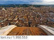 Купить «Вид на Флоренцию с вершины собора», фото № 1950553, снято 7 ноября 2008 г. (c) Антон Балаж / Фотобанк Лори