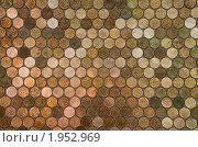 Мозаика - фон из десятикопеечных монет, эксклюзивное фото № 1952969, снято 2 сентября 2010 г. (c) Константин Косов / Фотобанк Лори