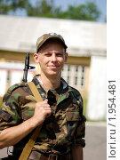 Купить «Молодой солдат», фото № 1954481, снято 15 июля 2006 г. (c) Никита Буйда / Фотобанк Лори