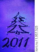 Купить «Новогодний рисунок на снежном стекле», фото № 1957525, снято 4 ноября 2009 г. (c) Дорощенко Элла / Фотобанк Лори