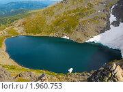Купить «Алтай. Озеро у подножия горы Красная», фото № 1960753, снято 18 августа 2010 г. (c) Andrey M / Фотобанк Лори