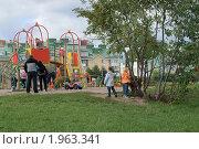 Купить «Детская площадка в ландшафтном парке «Митино» (Москва)», эксклюзивное фото № 1963341, снято 5 сентября 2010 г. (c) Валерия Попова / Фотобанк Лори