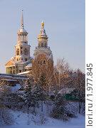 Торжок,фрагмент Борисоглебского монастыря со Свечной башней (2008 год). Стоковое фото, фотограф Юрков Виктор Петрович / Фотобанк Лори