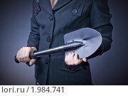 Купить «Бизнес тема с лопатой», фото № 1984741, снято 27 августа 2010 г. (c) Денис Миронов / Фотобанк Лори
