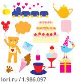 Набор рисунков для детей. Стоковая иллюстрация, иллюстратор Королева Елена Викторовна / Фотобанк Лори
