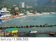 Крым: пляж в посёлке Новый свет (2010 год). Редакционное фото, фотограф ZitsArt / Фотобанк Лори