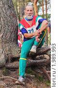 Купить «Пожилой спортсмен», фото № 1989993, снято 23 января 2019 г. (c) Вадим Кондратенков / Фотобанк Лори