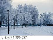 Купить «Зимняя набережная в г.Орле», фото № 1996057, снято 1 января 2010 г. (c) Александр Авдеев / Фотобанк Лори