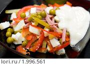 Купить «Русский салат, макро», фото № 1996561, снято 9 сентября 2010 г. (c) Александр Подшивалов / Фотобанк Лори