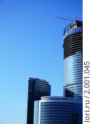 Купить «Строительство небоскреба», фото № 2001045, снято 20 ноября 2018 г. (c) Светлана Привезенцева / Фотобанк Лори