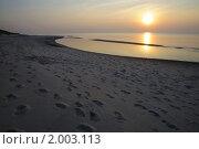 Закат море на Куршской косе Калининградская область (2010 год). Редакционное фото, фотограф Любовь Сафонова / Фотобанк Лори