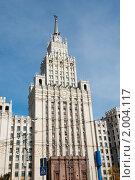 Купить «Сталинская высотка на Красных воротах. Москва», фото № 2004117, снято 26 сентября 2010 г. (c) Екатерина Овсянникова / Фотобанк Лори