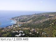 Купить «Вид на Кореиз», фото № 2009449, снято 16 сентября 2010 г. (c) Вячеслав Беляев / Фотобанк Лори