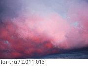 Купить «Закатные облака», фото № 2011013, снято 5 июня 2010 г. (c) Анастасия Некрасова / Фотобанк Лори