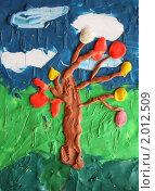 Купить «Картинка из пластилина, дождливая осень», фото № 2012509, снято 30 сентября 2010 г. (c) Игнатьева Алевтина / Фотобанк Лори