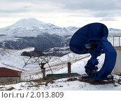 Купить «Кавказская горная обсерватория, гора Эльбрус», фото № 2013809, снято 18 мая 2008 г. (c) Борис Останкович / Фотобанк Лори