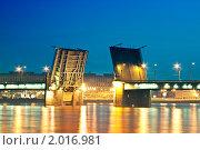 Купить «Разводной мост, Санкт-Петербург», фото № 2016981, снято 13 июня 2009 г. (c) Денис Миронов / Фотобанк Лори