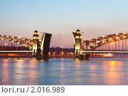 Купить «Мост в сумерках, Санкт-Петербург», фото № 2016989, снято 13 июня 2009 г. (c) Денис Миронов / Фотобанк Лори