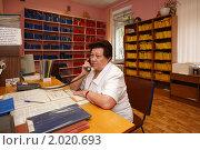 Купить «Балашиха, детская поликлиника, регистратура», эксклюзивное фото № 2020693, снято 29 июля 2010 г. (c) Дмитрий Неумоин / Фотобанк Лори