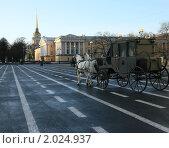 Карета на дворцовой площади (2008 год). Стоковое фото, фотограф Мария Васильева / Фотобанк Лори