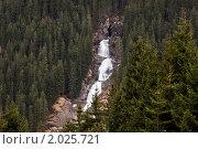 Водопад в Альпах (2010 год). Стоковое фото, фотограф Максим Блинов / Фотобанк Лори