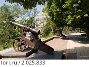 Купить «Пушки на крепостном валу, Чернигов,Украина», фото № 2025833, снято 17 июня 2010 г. (c) Владимир Фаевцов / Фотобанк Лори