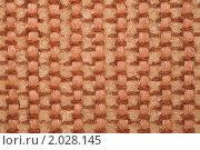 Купить «Фрагмент ковра с ворсом грубой текстуры, коричнево-желтого цвета. Макро», фото № 2028145, снято 18 ноября 2009 г. (c) Losevsky Pavel / Фотобанк Лори