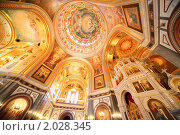 Купить «Храм Христа Спасителя в Москве, фрески на потолке и стенах», фото № 2028345, снято 14 декабря 2009 г. (c) Losevsky Pavel / Фотобанк Лори