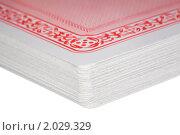 Купить «Колода игральных карт», фото № 2029329, снято 11 декабря 2009 г. (c) Losevsky Pavel / Фотобанк Лори