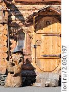 Купить «Статуя из дерева. Китова пристань», фото № 2030197, снято 19 сентября 2010 г. (c) Андрей Петраковский / Фотобанк Лори