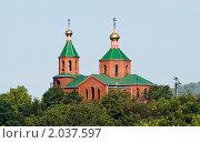 Купить «Церковь в поселке Абрау-Дюрсо», фото № 2037597, снято 20 сентября 2006 г. (c) Кузнецов Андрей / Фотобанк Лори