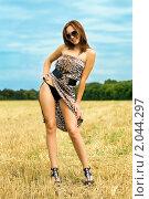 Купить «Портрет красивой девушки», фото № 2044297, снято 15 августа 2009 г. (c) Сергей Сухоруков / Фотобанк Лори