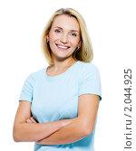 Портрет красивой молодой блондинки. Стоковое фото, фотограф Валуа Виталий / Фотобанк Лори