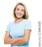 Купить «Портрет красивой молодой блондинки», фото № 2044925, снято 23 августа 2010 г. (c) Валуа Виталий / Фотобанк Лори